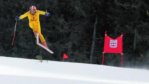 """Mit """"Klammer"""" kommt im Herbst der größte Wintersportfilm aller Zeiten weltweit in die Kinos. Die Dreharbeiten fanden jetzt am Patscherkofel statt. (Bild: Wallner Hannes)"""
