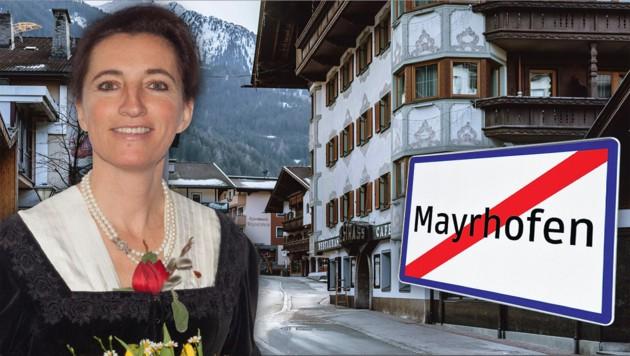 Monika Wechselberger, Bürgermeisterin von Mayrhofen im Tiroler Zillertal (Bild: Land Tirol, APA/EXPA/JFK, Andreas Fischer, Krone KREATIV)
