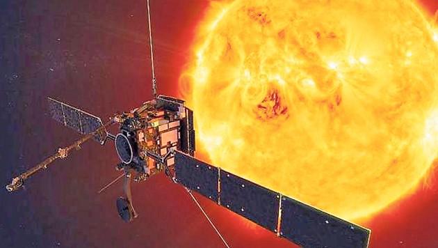 Mit dem Solar Orbiter ist auch Technik aus Graz zur Erkundung der Sonne unterwegs. (Bild: ESA)