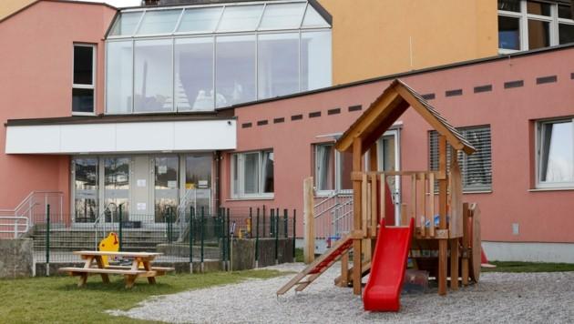 Covid-Alarm: Der Kindergarten Gamp in Hallein muss auch weiterhin geschlossen bleiben. (Bild: Tschepp Markus)