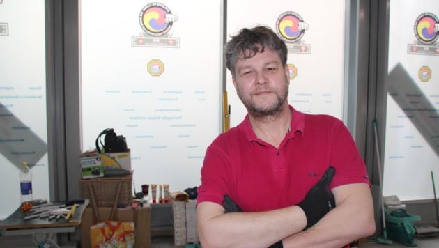 Taekwondo-Lehrer Böhm fordert Lockerungen im Sport. Er will sein Center, das jetzt noch eine Baustelle ist, möglichst bald eröffnen. (Bild: Matthias Fuchs)