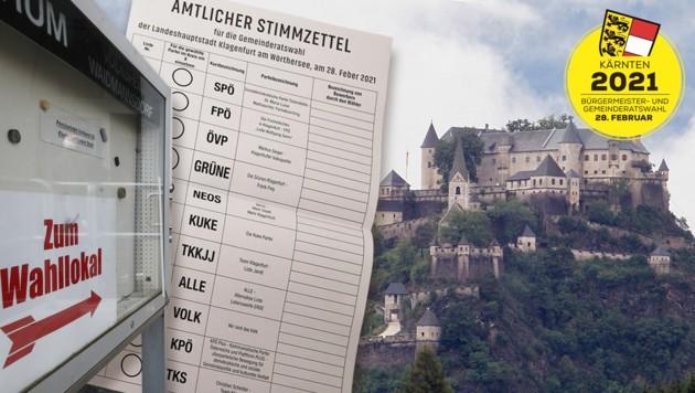 Am Sonntag finden in Kärnten Gemeinderats- und Bürgermeisterwahlen statt. (Bild: APA, Krone KREATIV)