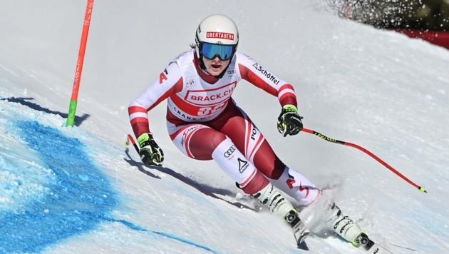 Ende Jänner beim Super-G in Crans Montana schaffte Grill als 18. ihr bislang bestes Weltcup-Resultat. (Bild: FABRICE COFFRINI)