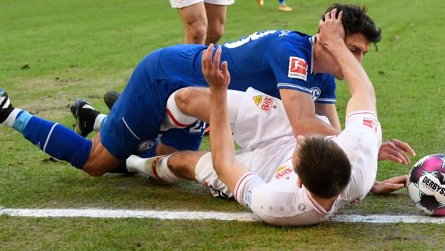 Waldemar Anton gegen Alessandro Schöpf. (Bild: AFP/Thomas Kienzle)
