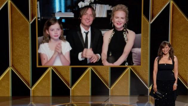 Faith Margaret mit Mama Nicole Kidman und Papa Keith Urban bei den Golden Globes (Bild: 2021 NBCUniversal Media, LLC)