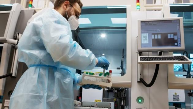 20 positive PCR-Tests aus Wiener Neudorf werden in Laboren auf Virusvarianten untersucht (Bild: ALEX HALADA)