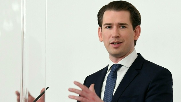 Bundeskanzler Sebastian Kurz (ÖVP) (Bild: APA/HELMUT FOHRINGER)