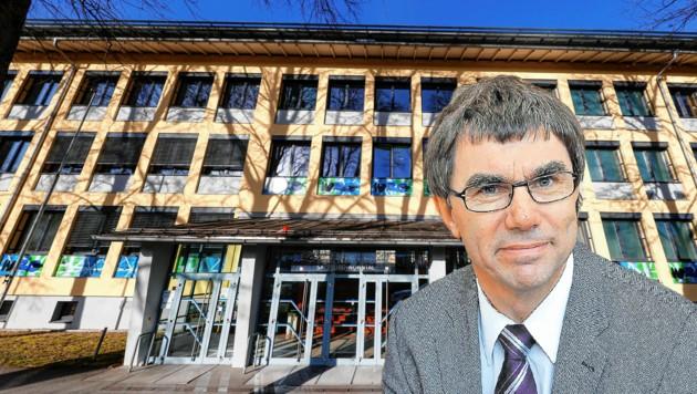 Schuldirektor Gerhard Klampfer fühlt sich beschimpft (Bild: Markus Tschepp, Krone Grafik)
