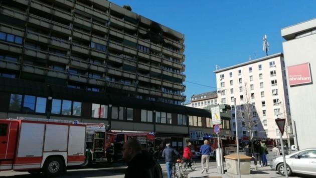 In einer Wohnung in der Stadt brach Feuer aus. (Bild: Alexander Gaderer)