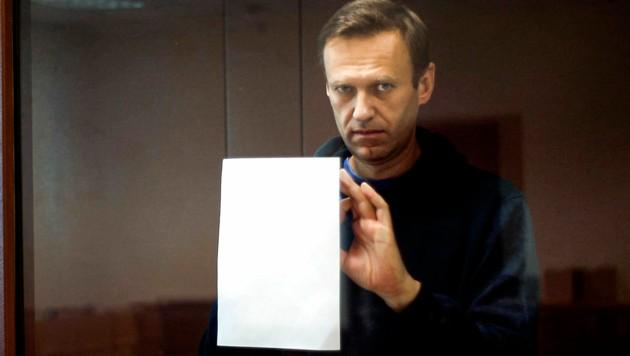 Kreml-Kritiker Alexej Nawalny wurde zuletzt zu einer mehrjährigen Haftstrafe verurteilt. (Bild: AP)