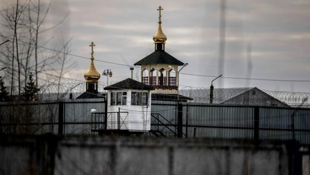 Hinter diesem Zaun mit Stacheldraht ist Nawalny derzeit inhaftiert. (Bild: APA/AFP/Dimitar DILKOFF)