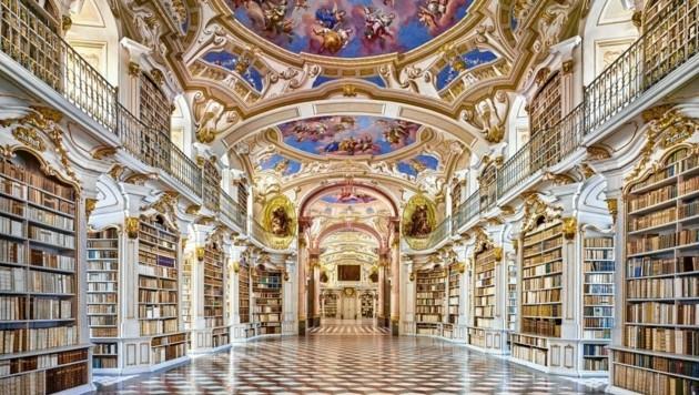 Die prächtige Bibliothek im Stift Admont ist jetzt einem Millionenpublikum bekannt (Bild: Marcel Peda)