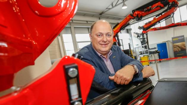 Andreas Klauser investiert mit dem Spezialisten für Kran- und Hebe-Lösungen in Lengau 20 Millionen Euro. (Bild: Markus Tschepp)