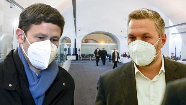 Wurden im Ibiza-U-Ausschuss befragt: Stefan Steiner (li.) und ÖVP-Generalsekretär Axel Melchior (Bild: APA, Krone KREATIV)