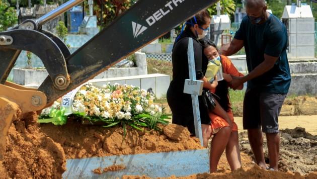 Bisher starben in Brasilien 259.271 Menschen im Zusammenhang mit Covid-19. (Bild: AFP )