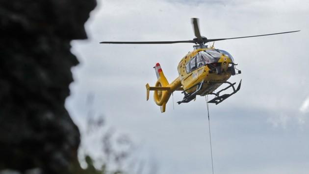 Der 78-Jährige wurde per Rettungshubschrauber geborgen. (Bild: Birbaumer Christof)