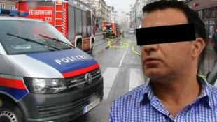 Der Verdächtige wurde am Freitagabend gefasst. (Bild: Andi Schiel, LPD Wien, Krone KREATIV)