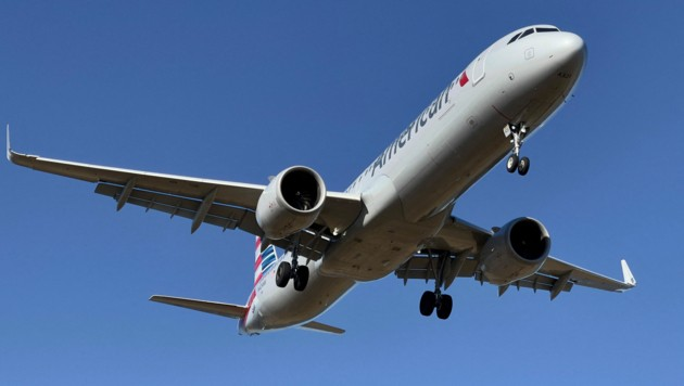 Ein Airbus A321-200 der Fluglinie American Airlines (Bild: APA/AFP/Daniel SLIM)