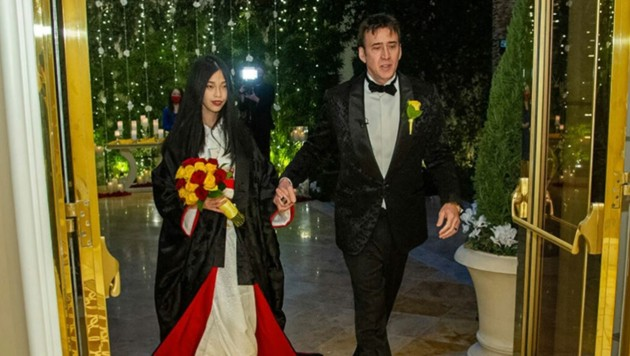 """Es stimmt und wir sind sehr glücklich"": Nicolas Cage hat seine 26-jährige Freundin Riko Shibata im Wynn Hotel in Las Vegas geheiratet. (Bild: courtesy The Wynn Hotel )"
