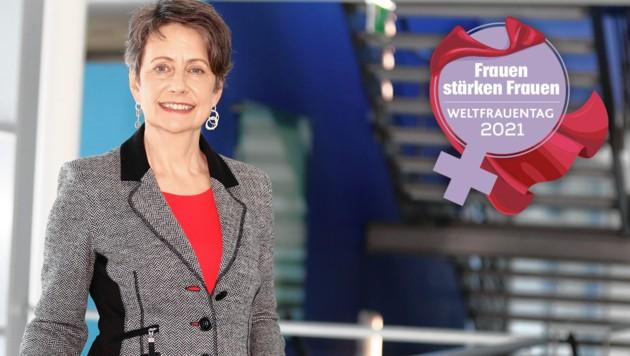 Sabine Herlitschka ist Vorstandsvorsitzende von Infineon Austria. Sie hält Vereinbarkeit von Beruf und Familie für einen Vorteil im Wettbewerb um Fachkräfte. (Bild: Eveline Hronek, Krone KREATIV)