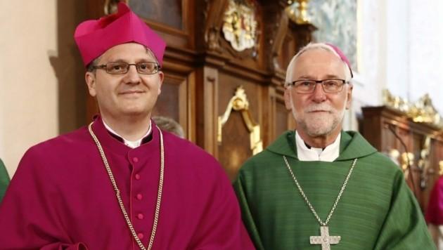 Bischof Josef Marketz mit Generalvikar Johann Sedlmaier. (Bild: Katholische Kirche)
