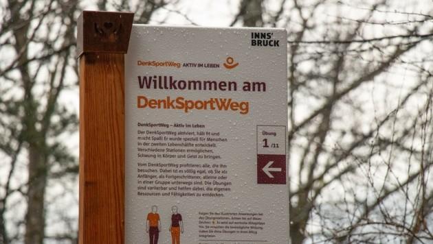 """Tirols erster """"DenkSportWeg"""" in Innsbruck ist vor allem für Menschen über 60 Jahre gedacht. (Bild: IKM/W. Giuliani)"""