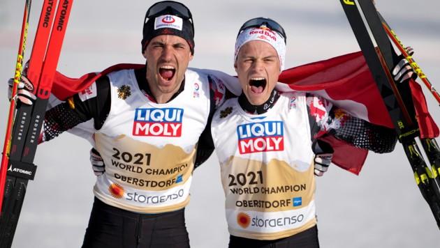Lukas Greiderer (li.) und Johannes Lamparter (Bild: APA/GEORG HOCHMUTH)
