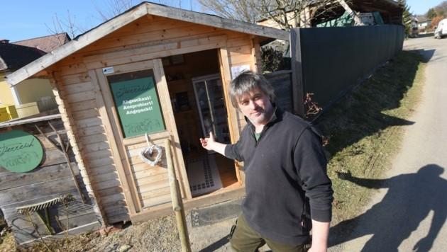 Anton Maurers Hofladen ist nur noch tagsüber geöffnet (Bild: elmar gubisch)