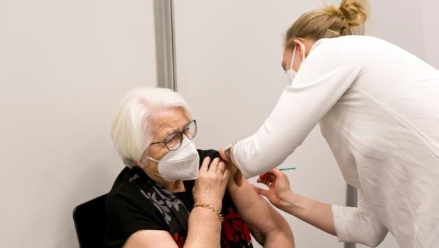 Der Schwerpunkt der Impfungen lag auf den über 80-Jährigen. (Bild: Mathis Fotografie)