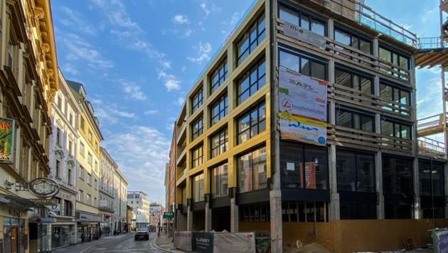 Hier im Linzer Graben eröffnet Betten Reiter im September eine neue Filiale. (Bild: Markus Wenzel)
