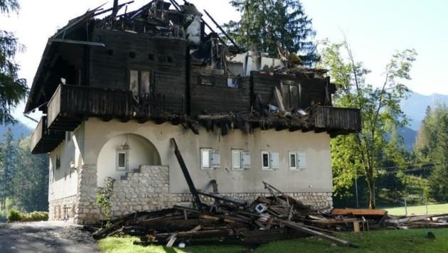 Die abgebrannte Peham-Villa wurde ohne Info an das Bundesdenkmalamt abgerissen (Bild: ZVG)