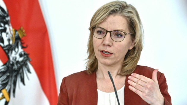 Umweltministerin Leonore Gewessler (Grüne) versprach für das erste Halbjahr das überfällige Klimaschutzgesetz. Nun sickerten erste Verhandlungsdetails durch - inklusive möglicher Steuererhöhungen. (Bild: APA/Hans Punz)