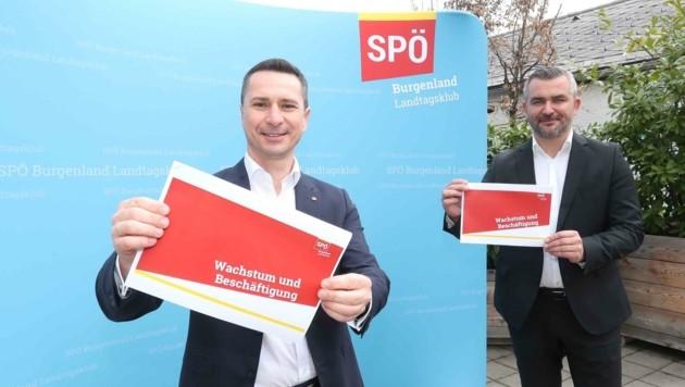 Klubobmann Robert Hergovich und Landesrat Heinrich Dorner setzen auf Investitionen (Bild: Judt Reinhard)