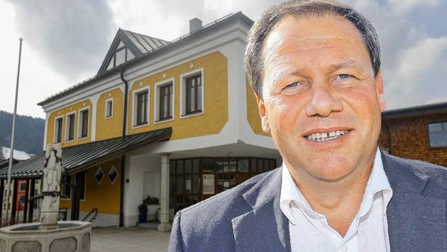 Bürgermeister Thomas Ließ besuchte trotz Quarantäne eine Gemeindevertretungssitzung in Hof (Bild: Markus Tschepp)