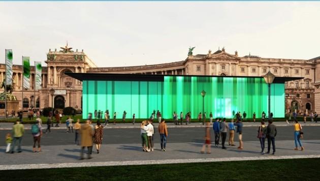 So wird der mobile Pavillon der Steiermark Schau ausschauen. (Bild: KadaDesign/Bildermehr)