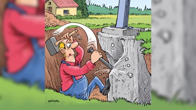 Die Geschehnisse aus der Sicht unseres Karikaturisten (Bild: Alfred Zwettler, krone.at)