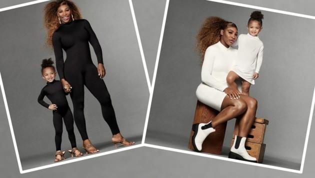 Serena Williams post regelmäßig mit ihrer Tochter Alexis Olympia - und streut die Ergebnisse freudig auf Instagram. (Bild: Instagram.com/Serena Williams)