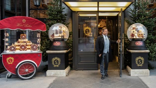 """Abermals verschoben: Das Hotelangebot """"Erlebe deine Hauptstadt"""" mit Häusern wie dem berühmten Sacher. (Bild: ALEX HALADA / AFP)"""