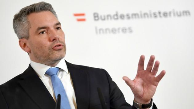 Innenminister Karl Nehammer (ÖVP) (Bild: APA/Roland Schlager)
