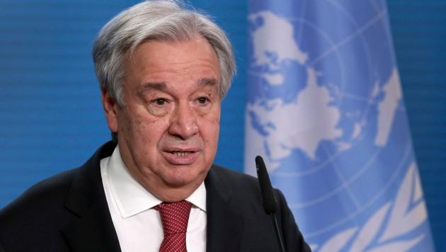"""UN-Generalsekretär António Guterres warnt vor """"katastrophalem Weg"""". (Bild: AFP)"""