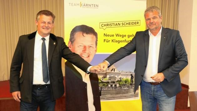 Christian Scheider und Gerhard Köfer. (Bild: Uta Rojsek-Wiedergut)