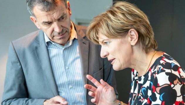 Ex-Vize Christine Oppitz-Plörer mit Bürgermeister Georg Willi. (Bild: EXPA/ Johann Groder)