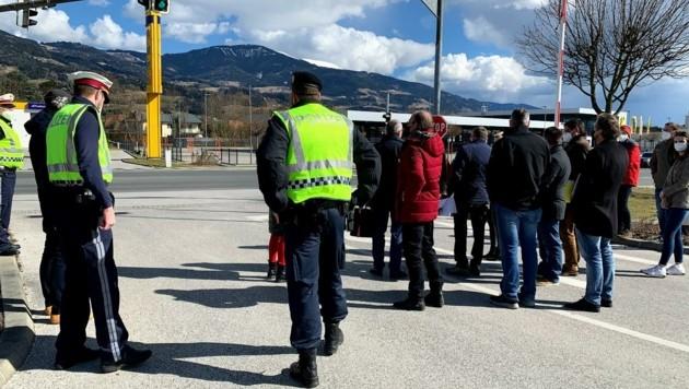 Der Prozess begann am Unfallort bei dieser Kreuzung in Wolfsberg. (Bild: Wassermann Kerstin)