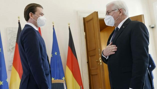 Frank-Walter Steinmeier und Sebastian Kurz (Bild: APA/BUNDESKANZLERAMT/DRAGAN TATIC)