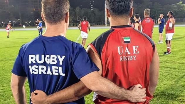 Freundschaft: Israel und Vereinigte Arabische Emirate (Bild: Israelischer Rugby-Verband)