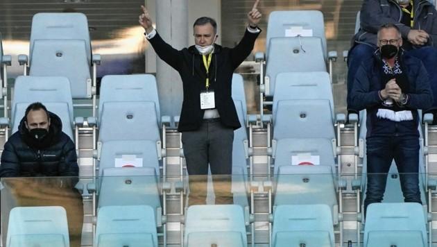 Sturm-Boss Christian Jauk (Mitte) kann zufrieden sein. (Bild: Sepp Pail)