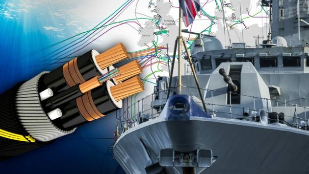 Symbolbild (Bild: submarinecablemap.com, stock.adobe.com, krone.at-Grafik)