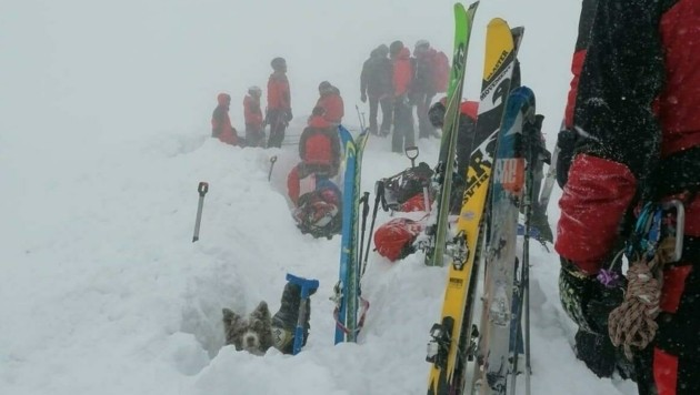 Ein Großaufgebot der Rettungskräfte rückte auf den Ötscher aus. (Bild: Bergrettung NÖ-Wien)