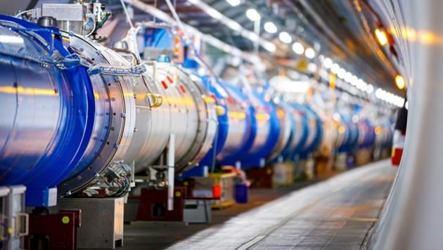Der LHC am CERN in Genf ist immer wieder für eine Überraschung gut. (Bild: APA/AFP/Valentin Flauraud)