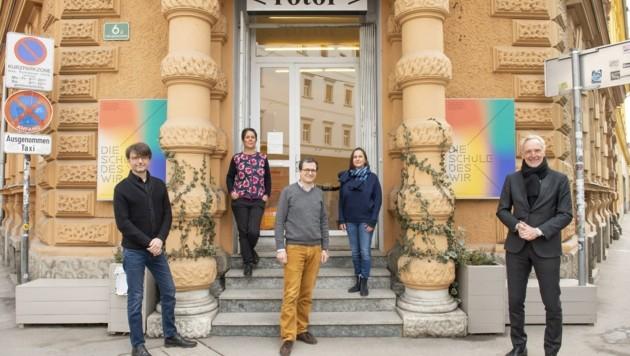 Graz 2020: Programmmanager Christian Mayer, Daniela Brasil, Anton Lederer, Margarethe Makovec und Stadtrat Günter Riegler (v. li.) (Bild: Foto Fischer)